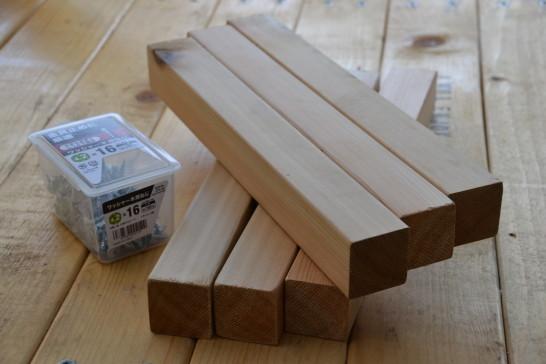 キャンプ キャンプ道具 棚 自作 DIY 木材