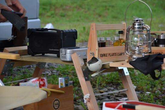 キャンプ 自作 棚 箱 調味料入れ DIY