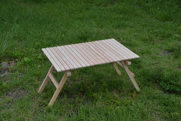 キャンプ用ウッドテーブルの試作品 diyから始まるキャンプ道具作り