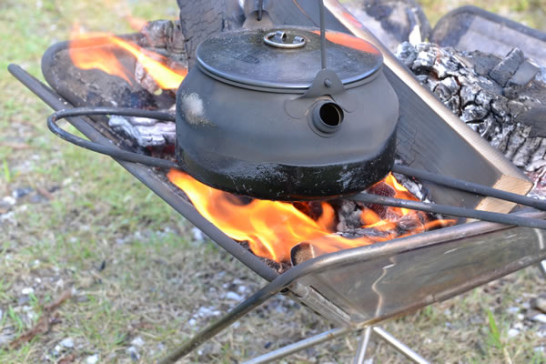 キャンプ 焚き火 ケトル グリルブリッジ
