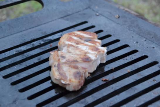 キャンプ BBQ 豚肉