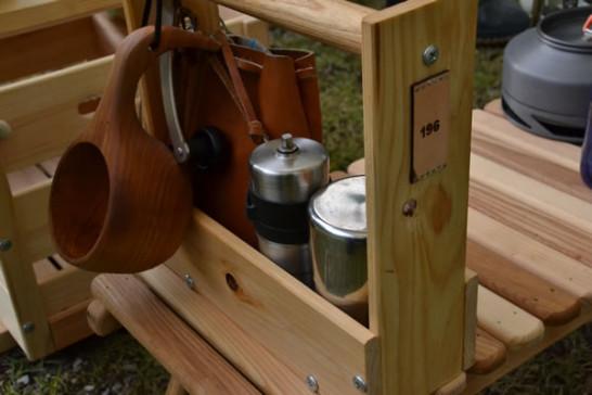 ひのき キャンプ道具 コーヒーセット 自作 DIY