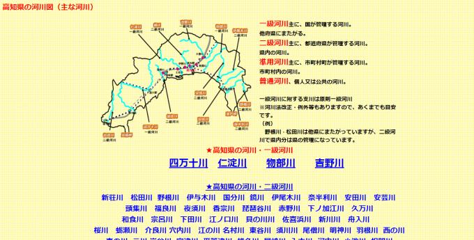 高知 河川 紹介