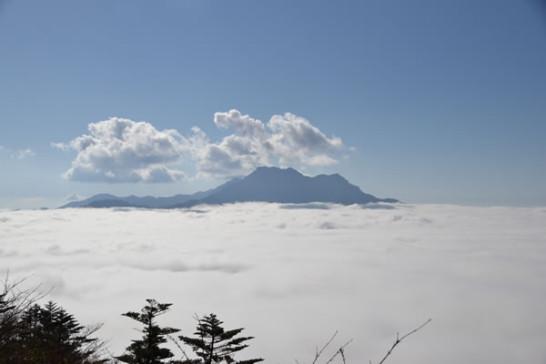 絶景 瓶ヶ森 雲海 石鎚山