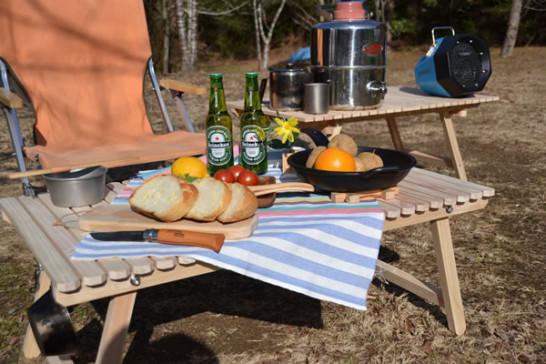 キャンプ 木 木製 テーブル ウッドテーブル 折りたたみ ロースタイル