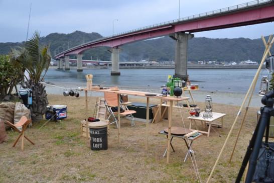 キャンプ カウンター BAR 木製 自作