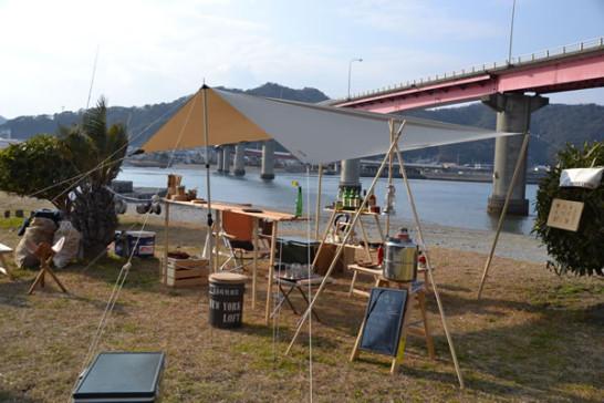 キャンプ カウンター BAR 木製 自作 タトンカタープ