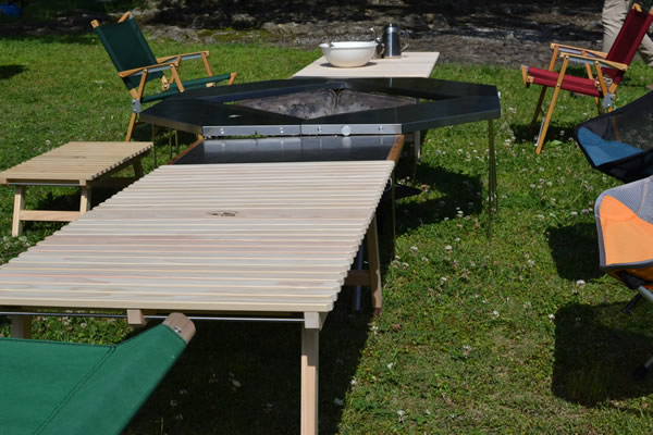 キャンプ ウッドテーブル ユニフレーム 焚き火テーブル
