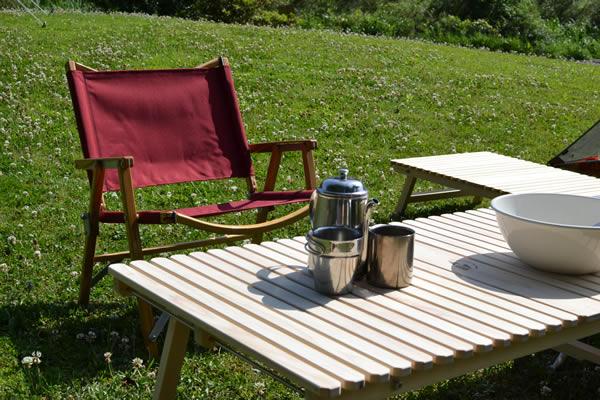 キャンプ ウッドテーブル ユニ