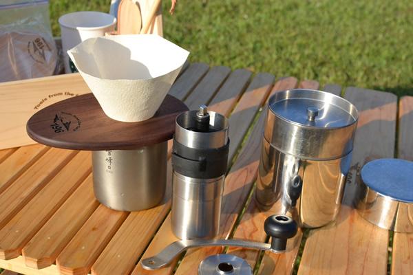 キャンプ用 コーヒーセット