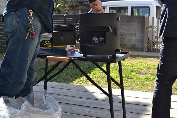 キャンプ 料理 ピザ 携帯 移動 ピザ窯