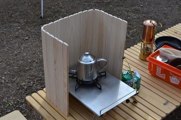 風防 ウィンドスクリーン 木製 キャンプ