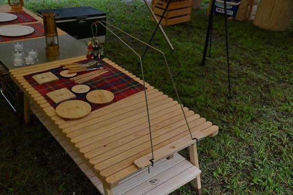 木製 テーブル ウッドテーブル キャンプ