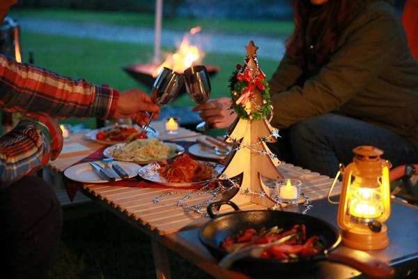 クリスマス キャンプ 卓上 クリスマスツリー 聖夜 サンタ