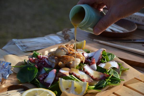 キャンプ サラダ オードブル オードブルプレート ギャザリング