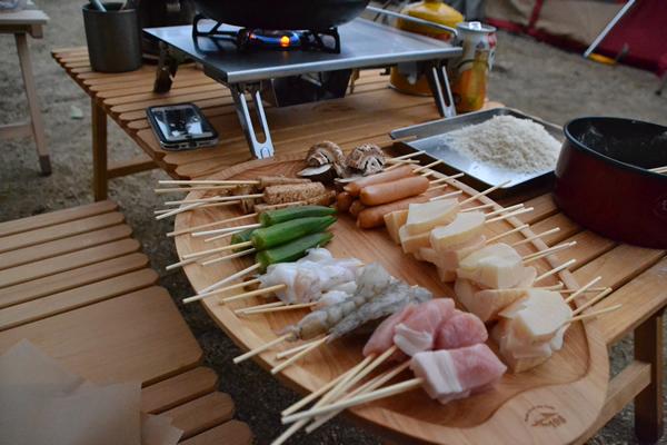 キャンプ 料理 串揚げ フライ