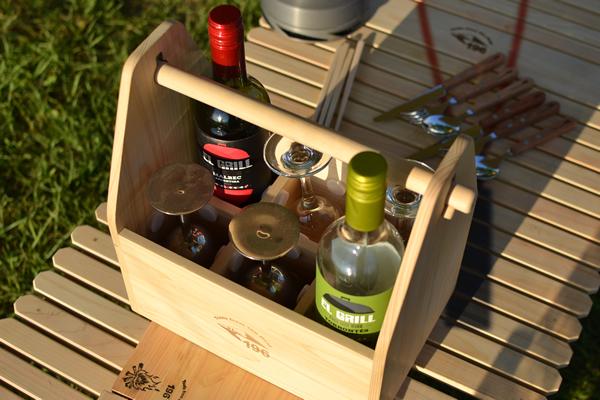 キャンプ ワイン ワイングラス 持ち運び ケース ボックス