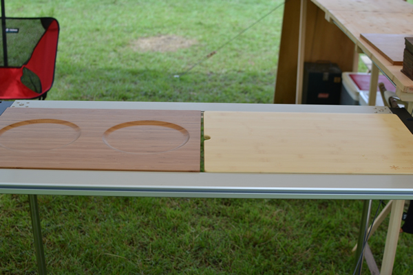 キャンプ トレー 竹 バンブー グランピング 器 料理 盛り付け スノーピーク IGT アイアングリルテーブル