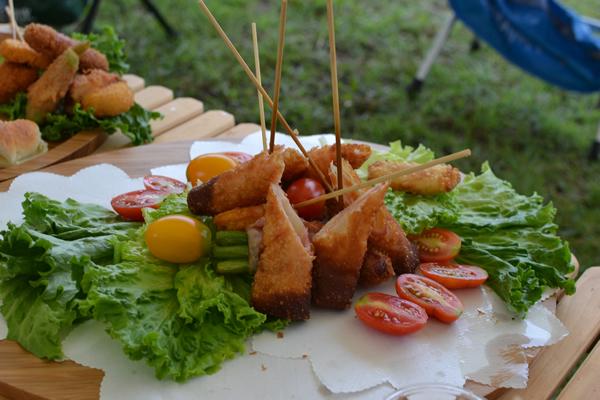 キャンプ インスタ映え 料理 グランピング ギャザリング 196 ビュッフェトレー フライ 天ぷら