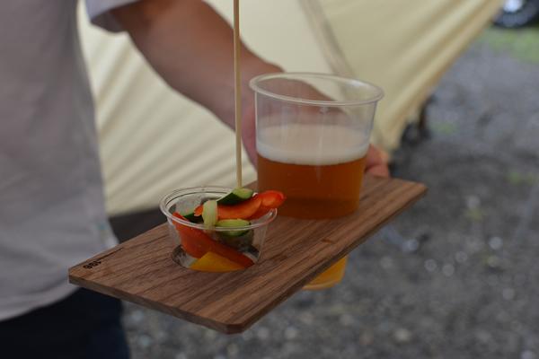 キャンプ 立食 バイキング ビュッフェ ギャザリング ビール