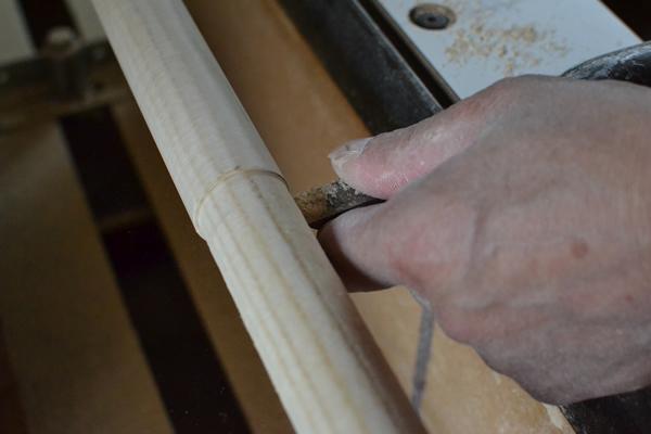 タープポール 木製 ウッドポール タープ コットンタープ 196 ナチュラル 削り出い