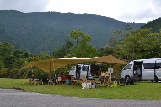 高知 キャンプ キャンプ場 馬路村 魚梁瀬 梁瀬 やなせ オートキャンプ場