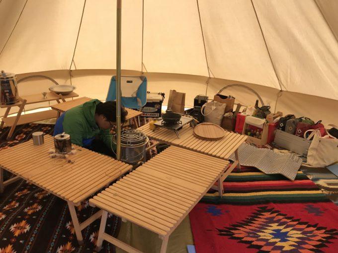 冬キャンプ ベルテント ストーブ 鍋