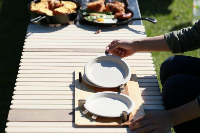 キャンプ BBQ バーベキュー 最適 紙皿 飛ばない プレート トレー ソトゼン SOTOZEN 外膳 お膳 アウトドア
