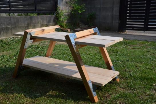キャンプ キャンプ道具 棚 自作 DIY 作り方