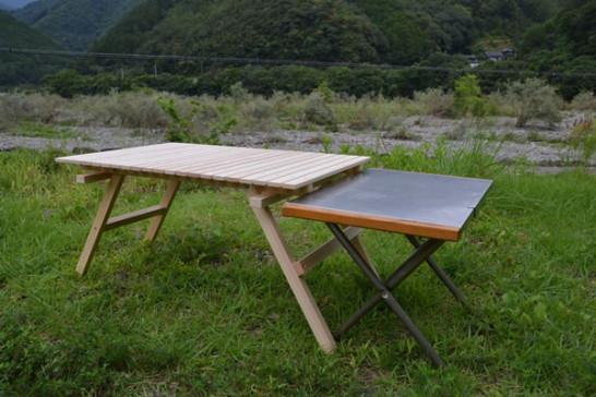 キャンプ テーブル ウッドテーブル キャンプ道具 ひのき ヒノキ 桧