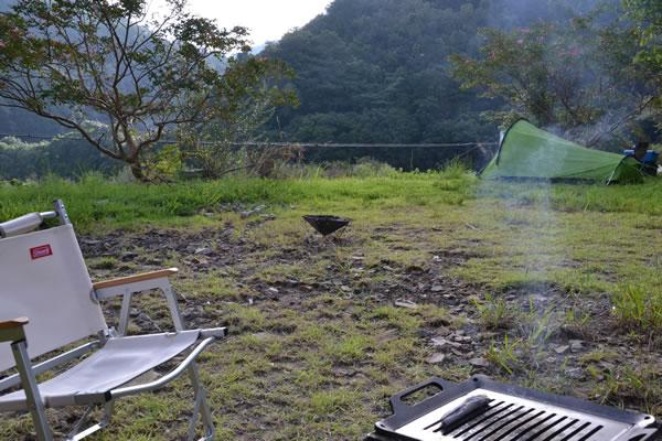 キャンプ 高知 四万十川 三島キャンプ場