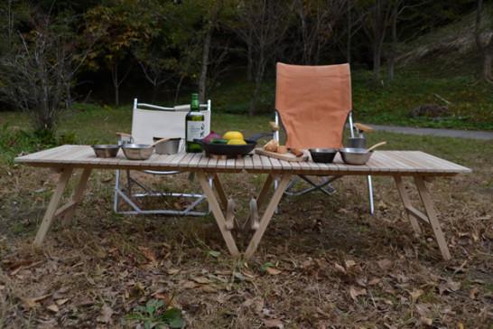 キャンプ用 木製 ウッドテーブル