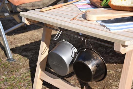 キャンプ テーブル コッフェル
