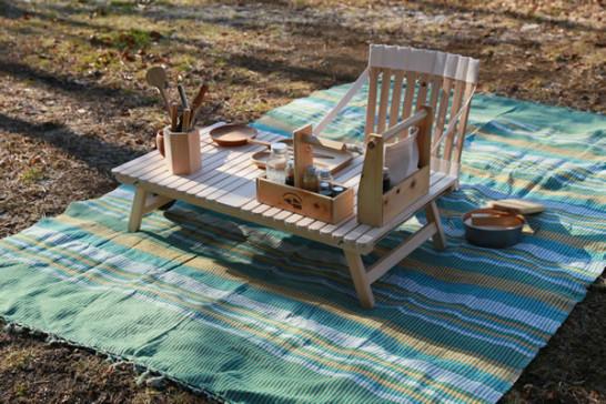 キャンプ テーブル 木製 お座敷