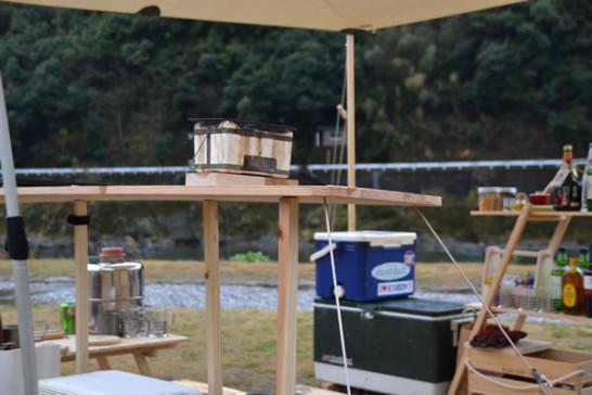 キャンプ DIY バー カウンター