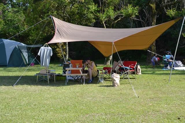 キャンプ 高知 爪白キャンプ場