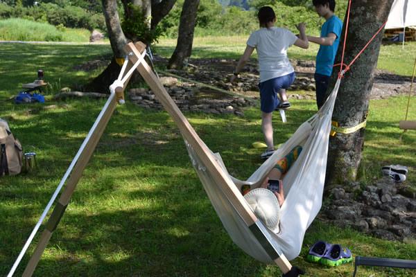 キャンプ ハンモック スラックライン