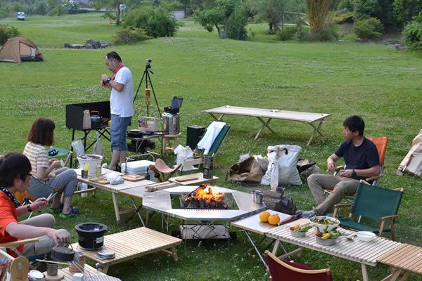キャンプ 宴会 ふるさと交流センター