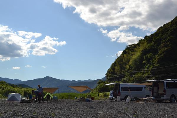 高知 キャンプ 須崎 新荘川