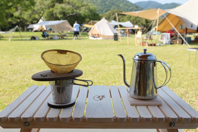 コーヒードリッパー 木製 キャンプ