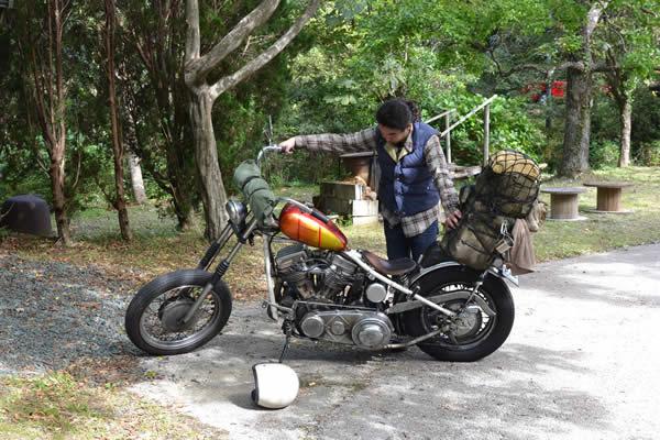 キャンプ 高知 甫喜ヶ峰 ハーレー バイク