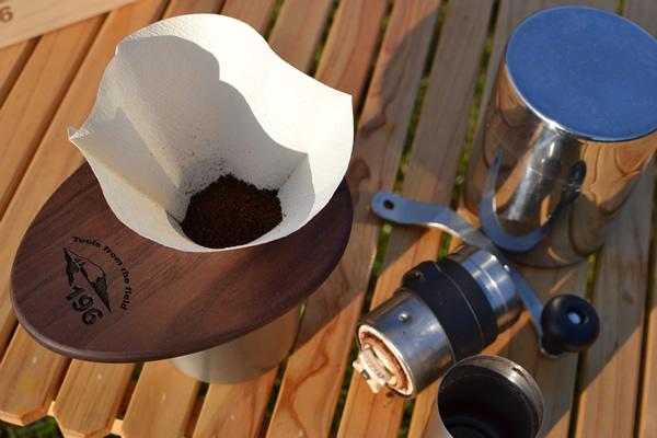 キャンプ モーニング コーヒー ドリップ