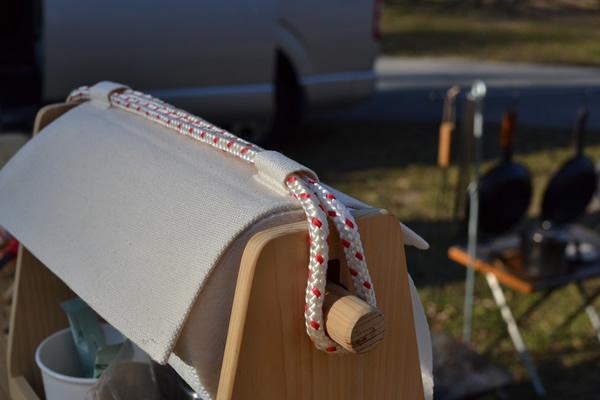 キャンプ キッチンペーパーホルダー スパイスボックス 調味料入れ 木製 おかもち オカモチ
