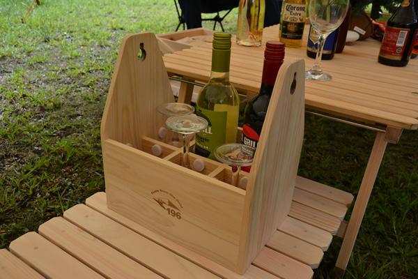 キャンプ ワイン ワイングラス 持ち運び 木製ケース ウッドケース
