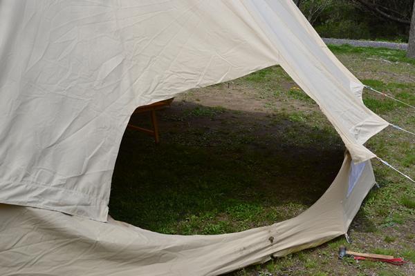 キャンプ コットンテント ベルテント シブレー シブレー500 スタンダード 薪ストーブ 炎上