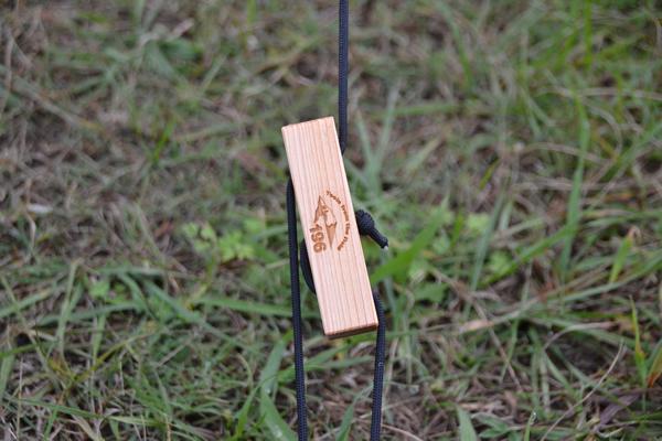 自在 ロープタイトナー 木製 テント タープ キャンプ