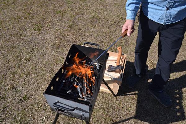キャンプ 焚き火 薪 炭 火かき棒 薪ストーブ