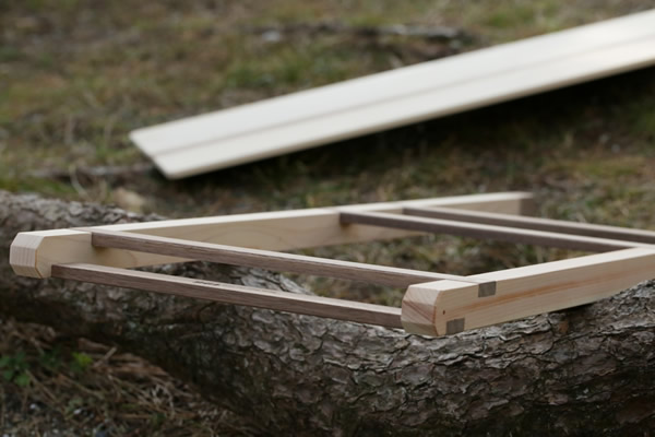 196 キャンプ ラック 多段ラック 折りたたみ 収納 荷物 ウッド 木製