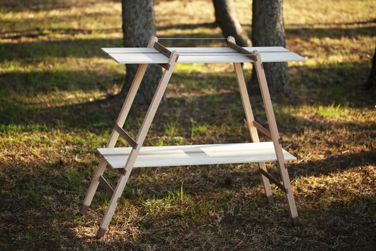 キャンプ ウッド 木製 棚 おしゃれ ダブルラック 折りたたみ 組立