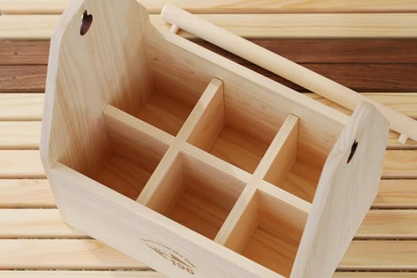 キャンプ ワイン ワイングラス 持ち運び 収納 ひのき 木製 ボックス BOX